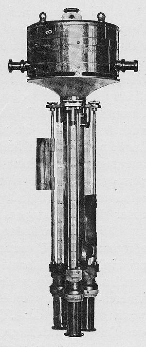 Richard Assmann - Threefold aspiration-psychrometer (Assmann type, prior to 1900)