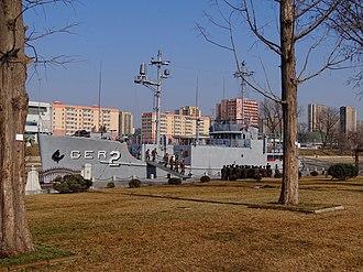 USS Pueblo (AGER-2) - Image: Pueblo at Pyongyang Museum 2014