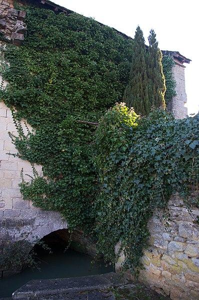Arche voûtée du lavoir à double pans, sur le ruisseau de Cœur.