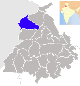 Localisation de District d'Amritsar