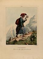 Pyrénées - Paysanne du village de Grip (i.e. Gripp) passant le Tourmalet - Fonds Ancely - B315556101 A PINGRET 023.jpg