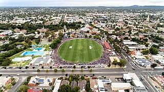 Queen Elizabeth Oval Sports stadium in Bendigo, Australia