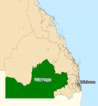 Electoral district of Warrego - Electoral map of Warrego