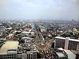 Aerial view of Quezon City, the most populous in the Philippines