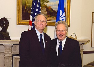 Jean Charest - United States Consul General Peter O'Donohue meets with Quebec Premier Jean Charest in November 2010.