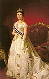 Queen María de las Mercedes de Orleans as Queen of Spain by Eduardo Balaca.jpg