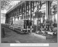 Queensland State Archives 3684 Rocklea workshops grillage links marked for boring and link pins Brisbane 2 July 1936.png