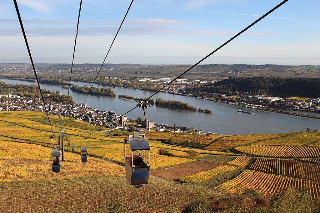 Rüdesheim am Rhein Seilbahn (Mittelrhein Sehenswürdigkeiten)