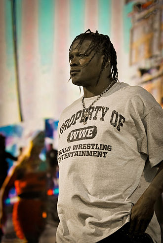Ron Killings - R-Truth at the WWE Tribute to the Troops event in December 2010