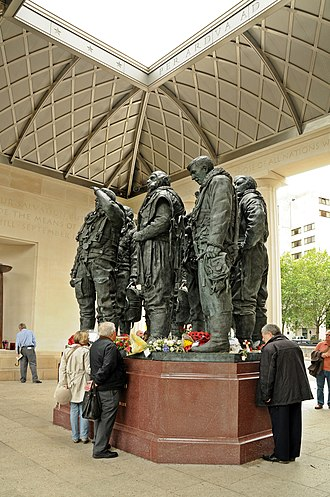 RAF Bomber Command - The interior of the Bomber Command Memorial in London