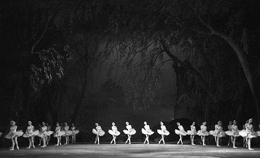 RIAN archive 854874 Scene from Pyotr Tchaikovsky's ballet Swan Lake