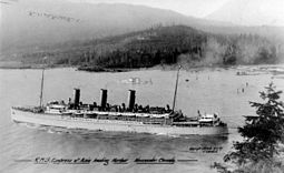 RMS Empress of Asia leaving Vancouver 1917.jpg