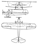 Raab-Katzenstein RK 7 with 14 HP DKW motor 3-view Le Document aéronautique November,1927.png