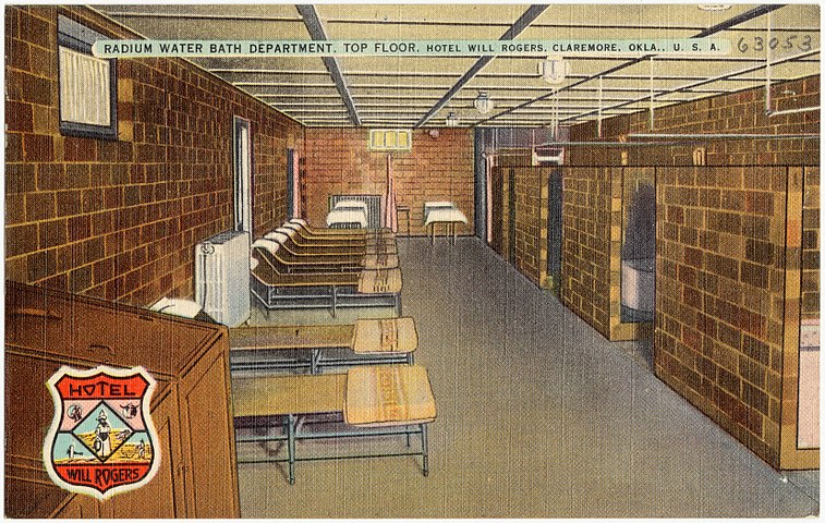 Radium Water Bath Department, top floor, Hotel Will Rogers, Claremore, Okla., U.S.A (63053).jpg