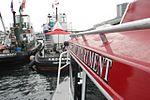 Rail of the fireboat Destiny, in Tacoma.jpg