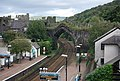 Railway goes through the town walls, Conwy - geograph.org.uk - 1476651.jpg