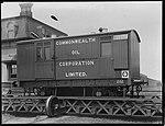 Railway goods van on traverser (2820259893).jpg