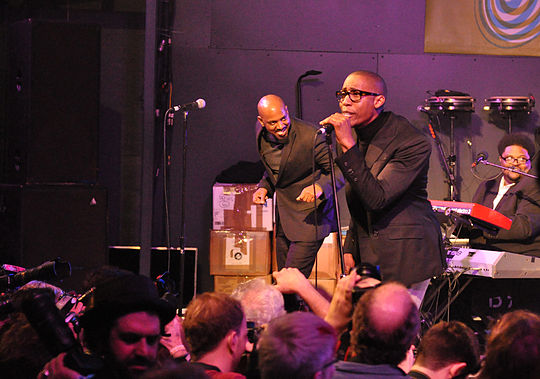 Saadiq performing at South by Southwest in 2011, promoting Stone Rollin'. Raphael Saadiq at SSW.jpg