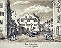 Rapperswil - Engelplatz-Halsplatz um 1832.jpg