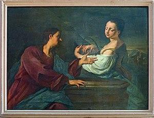 Francesco Polazzo - Rebecca al pozzo con Eleaza San Francesco della Vigna