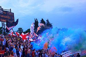 Crveni Đavoli - The Djavoli at the stadium in 2011.