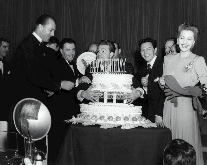 Red Skelton and John Garfield at FDR Birthday Ball 1944