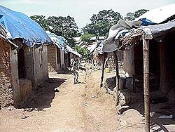 A camp in Guinea for refugees from Sierra Leone.