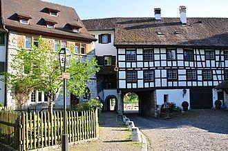 Regensberg Castle - gate between Oberburg and Unterburg