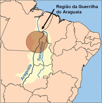 Araguaia Guerrilla War - Araguaia River banks