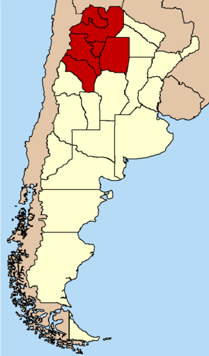 Argentine Northwest - Location of Northwest Argentina