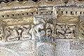 Reich geschmückt, die romanische Apsis (12. Jahrhundert) der Kirche Saint-Vivien-de-Medoc. 24.jpg