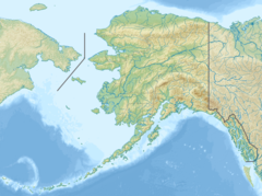 Map showing the location of Tana Glacier