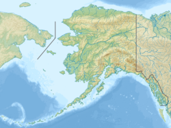 Map showing the location of Lake Clark National Park and Preserve