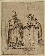 Rembrandt Two Men in Discussion, One in Oriental Dress.jpg