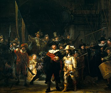 The Night Watch (1642) by Rembrandt
