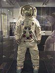 Replica Apollo spacesuit Front 2014 Exhibit at Chemical Heritage Foundation DSCF0486.jpg