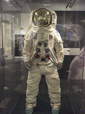 Polybenzimidazole fiber -  Replica Apollo spacesuit, Chemical Heritage Foundation temporary exhibit, 2014