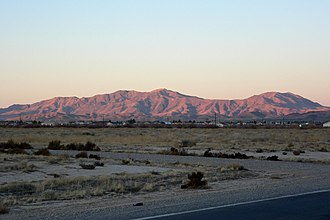 Resting Spring Range - West side of the Resting Spring Range seen from Pahrump, Nevada
