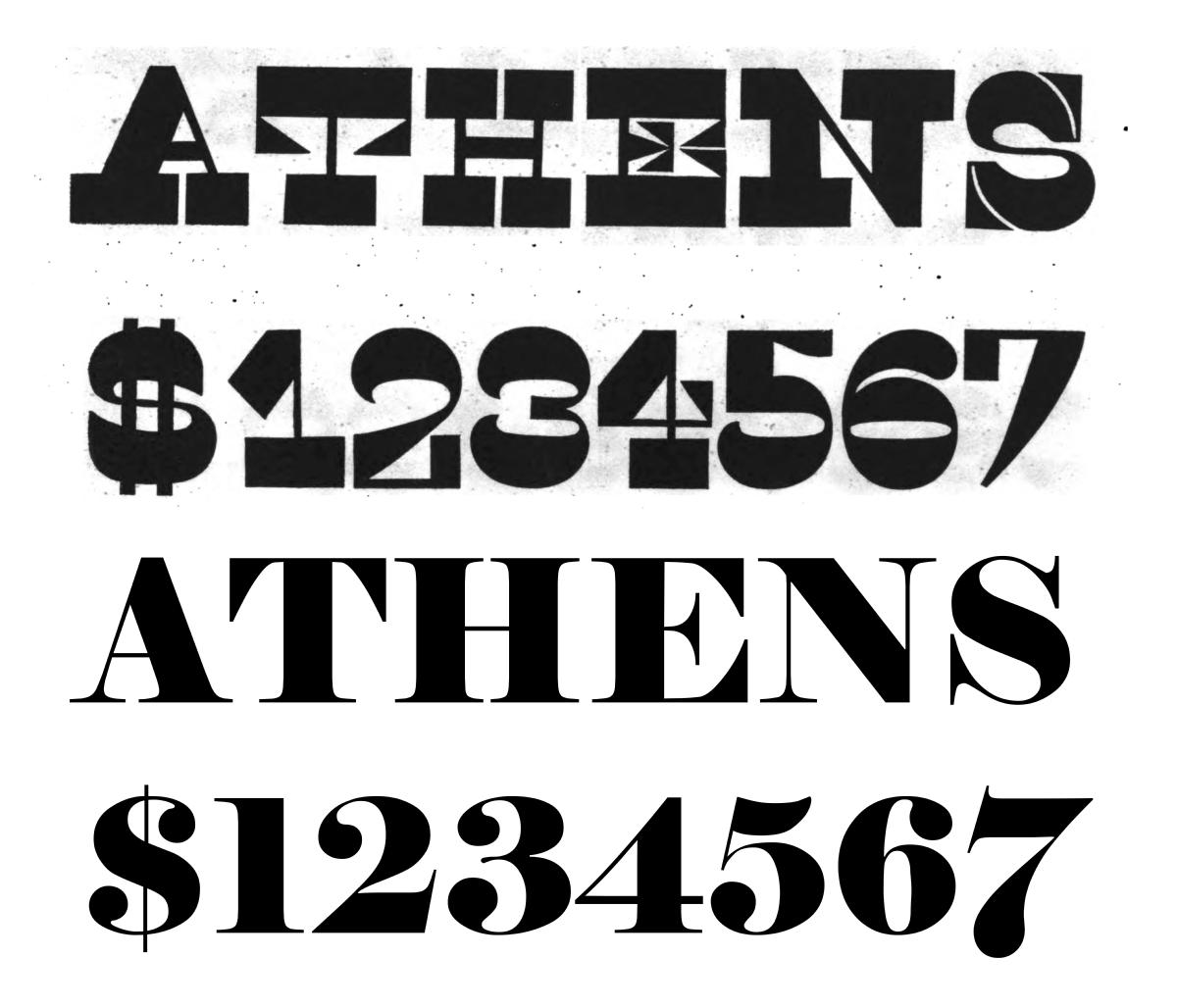 Reverse Contrast Typefaces