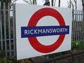 Rickmansworth station roundel.JPG