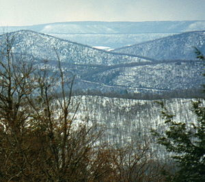 Geology of Pennsylvania -  View west towards Appalachian Ridge country from Clarks Knob.