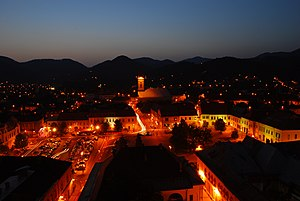 Baia Mare - Baia Mare skyline at dusk