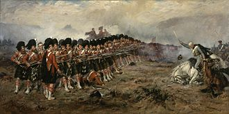 Military history of Scotland - The Thin Red Line of 1854, by Robert Gibb, in his 1881 painting