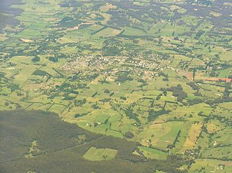 Robertson, New South Wales - Aerial photo from north west
