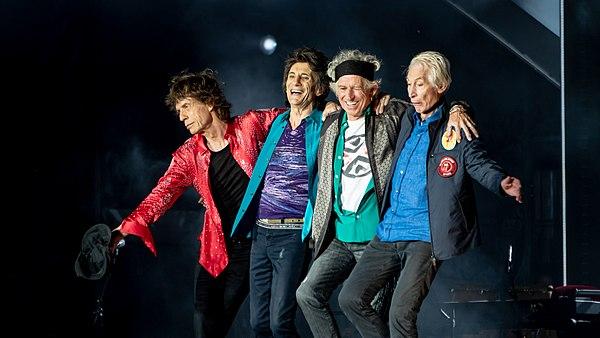 Photo The Rolling Stones via Wikidata