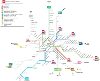 Ancient Rome Subway Map.Rome Metro Wikipedia