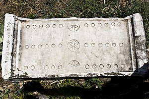 Ludus duodecim scriptorum - Roman board from the 2nd century, Aphrodisias