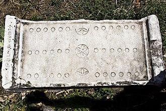 Ludus duodecim scriptorum - Roman board from the 2nd century, Aphrodisias