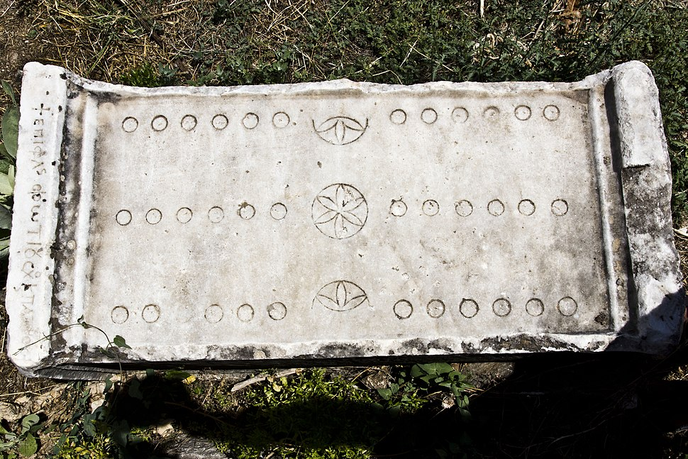 Roman Game of 12 Lines Board - Aphrodisias