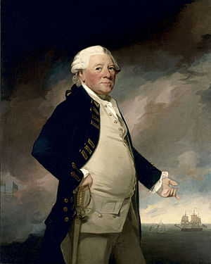 HMS Brilliant (1757) - Sir Hyde Parker, captain of Brilliant from 1757 to 1759. By George Romney, c. 1782